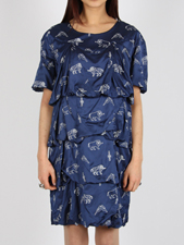 P.A.M. ROYAL BLUE PINE CONE DRESS